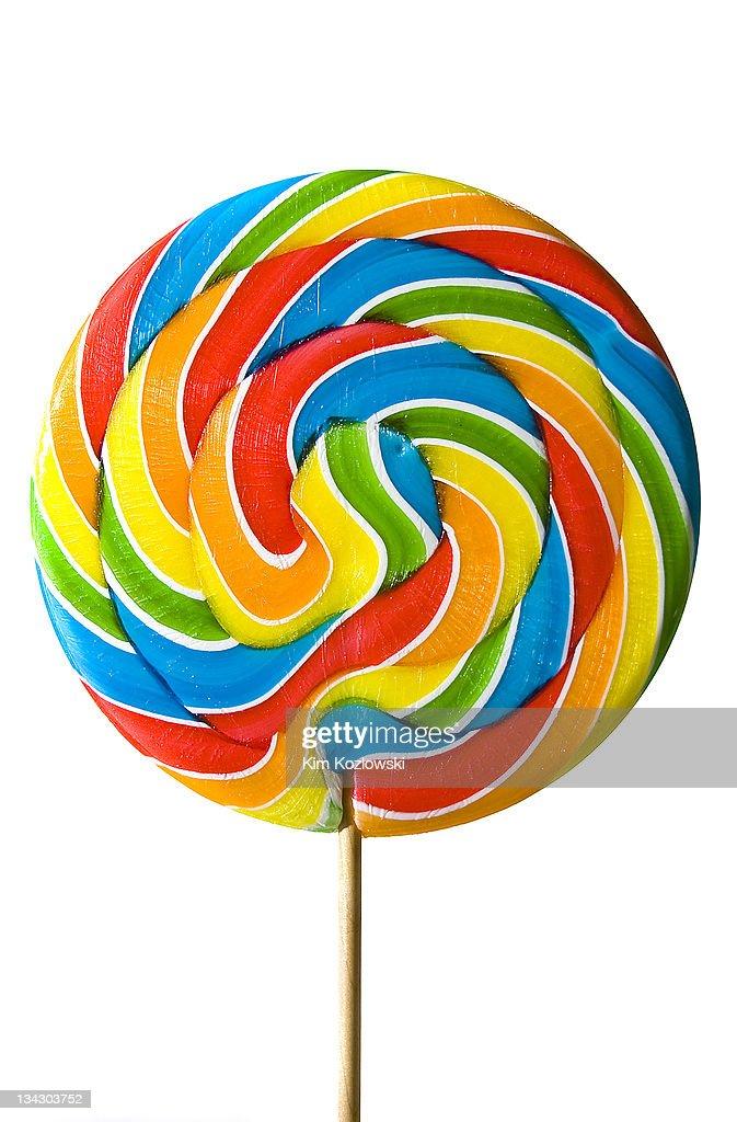 Giant rainbow awirl lollipop