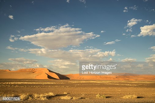 Giant sand dune in the Namib Desert