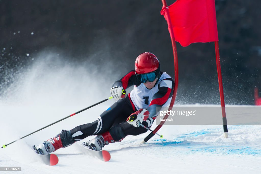 Giant slalom race : Stock Photo