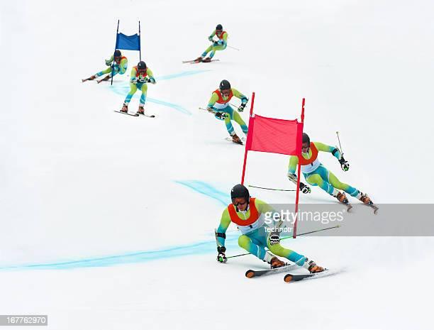 Skieur slalom géant