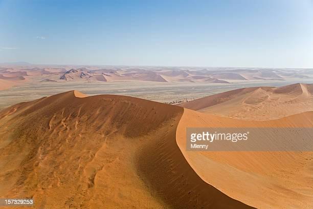Giant Sossusvlei Desert Sand Dunes (Aerial View)