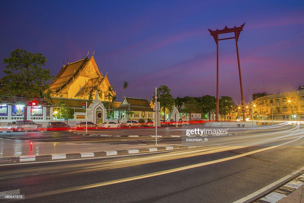 Giant balanço em Banguecoque, Tailândia : Foto de stock