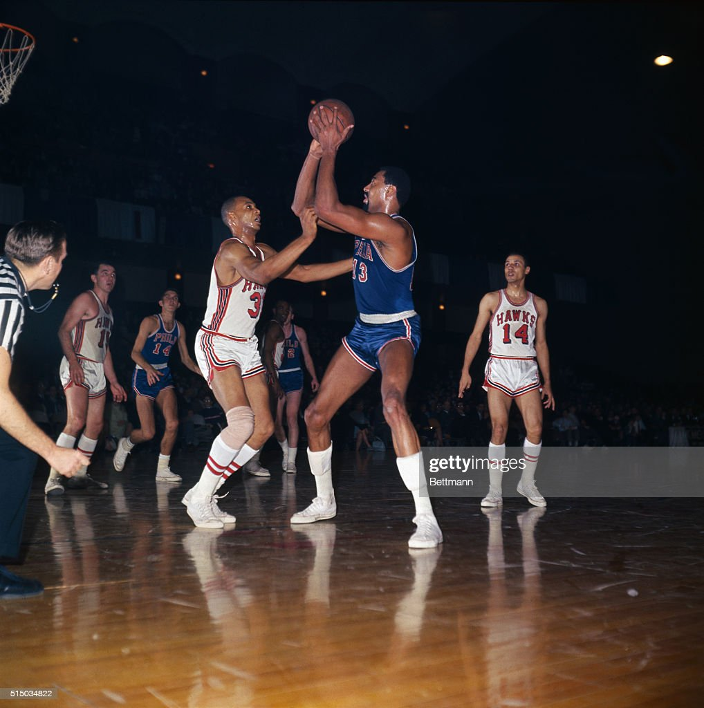 Wilt Chamberlain Handling the Basketball