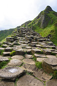 The Giant's Causeway is an area of about 40,000 interlocking basalt columns, the result of an ancient volcanic eruption in County Antrim in Northern Ireland