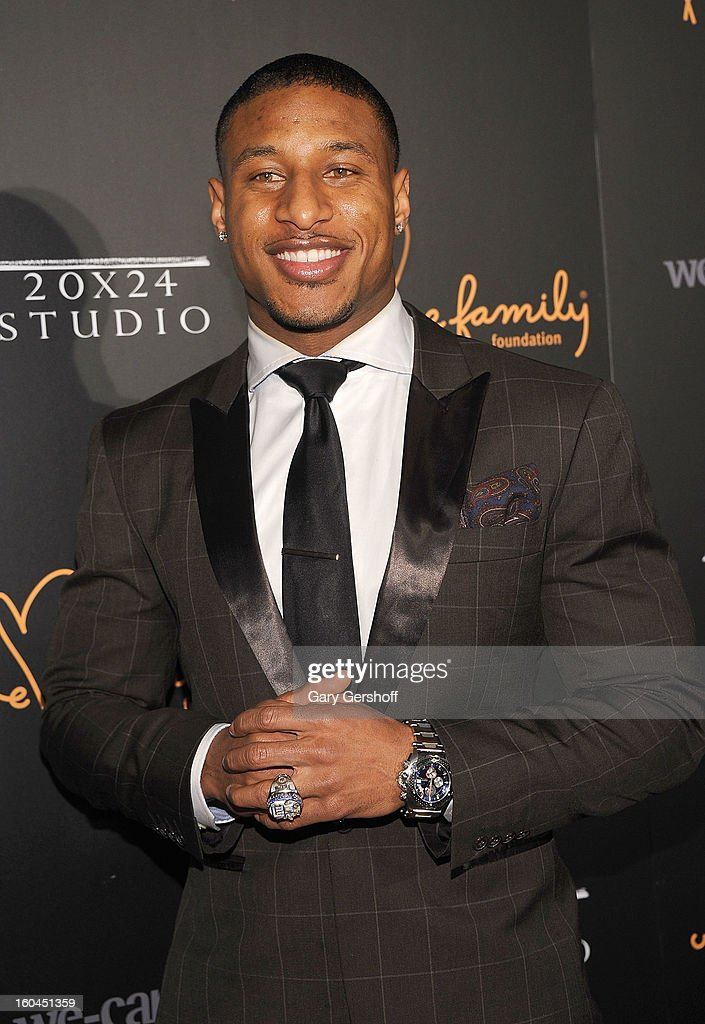 NY Giants cornerback Justin Tryon attends 2013 We Are Family Foundation Gala at Hammerstein Ballroom on January 31, 2013 in New York City.