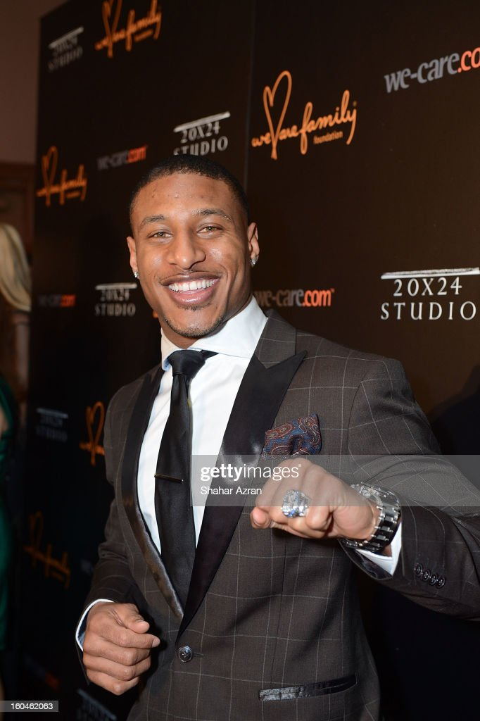 Giants cornerback Justin Tryon attends 2013 We Are Family Foundation Gala at Hammerstein Ballroom on January 31 2013 in New York City