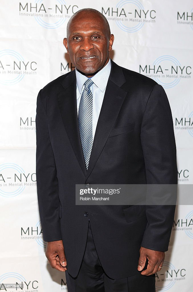 NY Giants Hall of Famer Harry Carson attends Bridges To Mental Health: A Celebration Of Hope Gala at Cipriani 42nd Street on June 5, 2012 in New York City.