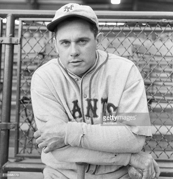 Giants Pilot in World Series New York An excellent closeup of Bill Terry manager and first baseman of the New York Giants who has the responsible job...