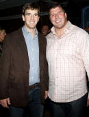 Giants quarterback Eli Manning and offensive tackle Dave Diehl attend Dave Diehl's 30th birthday party on September 13 2010 in New York City