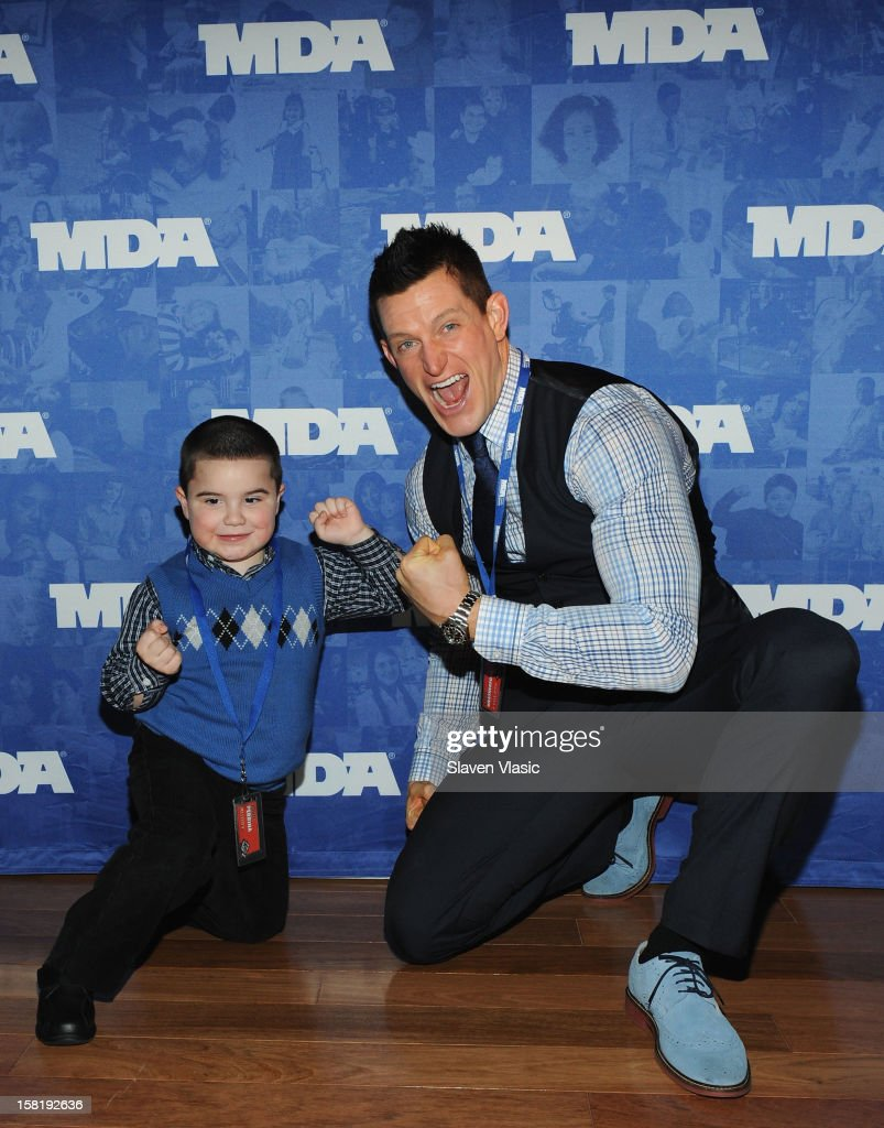 NY Giants' <a gi-track='captionPersonalityLinkClicked' href=/galleries/search?phrase=Steve+Weatherford&family=editorial&specificpeople=980653 ng-click='$event.stopPropagation()'>Steve Weatherford</a> attends MDA's 2013 Muscle Team Kick Off Event at The Lighthouse at Chelsea Piers on December 10, 2012 in New York City.