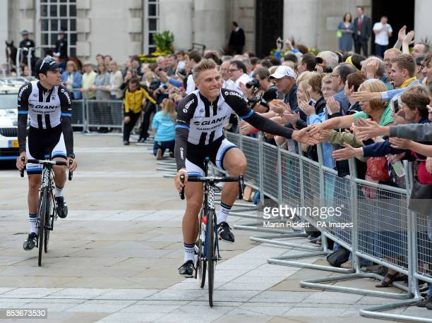 GiantShimano's Marcel Kittel during the team presentation at The Leeds Arena Leeds