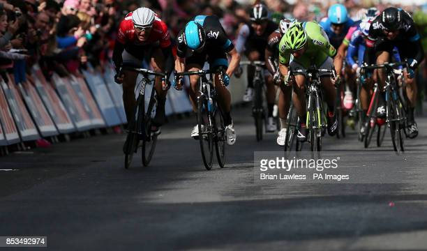 GiantShimano's Marcel Kittel races to the finish line to win stage three of the 2014 Giro d'Italia from Armagh to Dublin Republic of Ireland