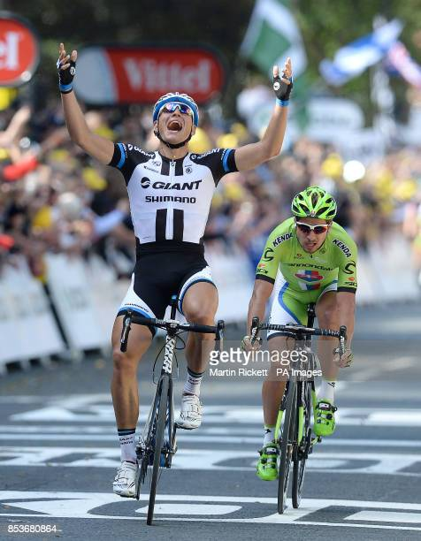 GiantShimano's Marcel Kittel wins of stage one of the Tour de France in Harrogate Yorkshire
