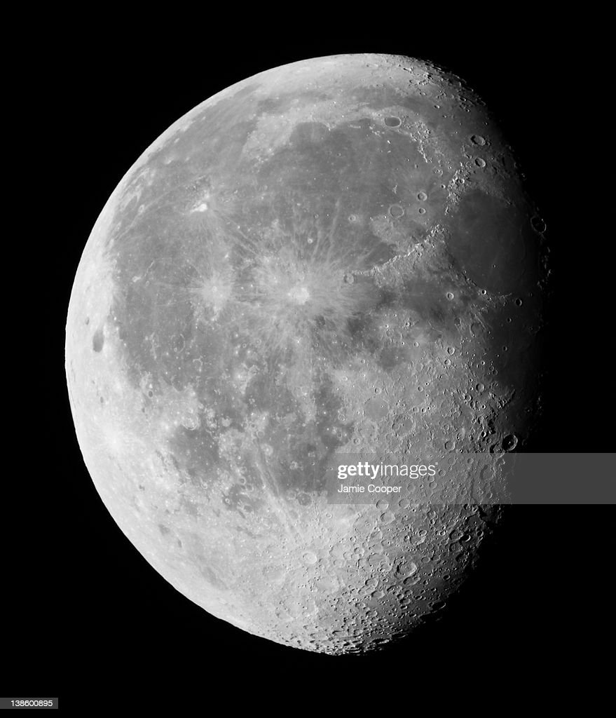 A gibbous moon a phase of the moon between first quarter and full or between full and last quarter Taken in the UK on October 17 2011 using a Canon...