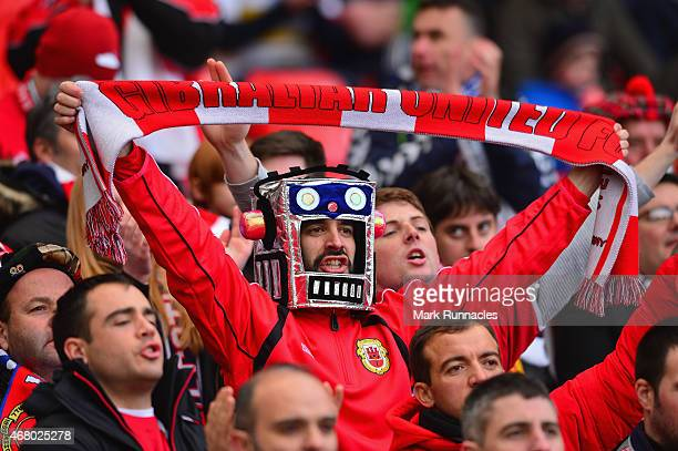 Gibraltar fan during the EURO 2016 Qualifier match between Scotland and Gibraltar at Hampden Park on March 29 2015 in Glasgow Scotland