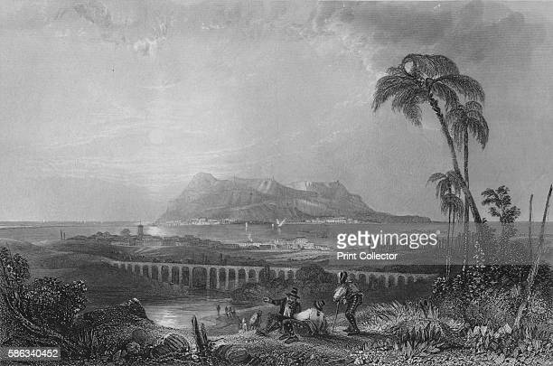 'Gibraltar From Algeziras' 1840 After H E Allen From The Shores Islands of the Mediterranean by Rev G N Wright [Fisher Son Co London Paris 1840]...
