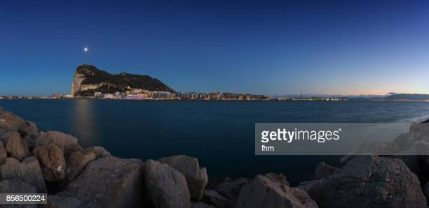 Gibraltar moon - city and Upper Rock - Gibraltar/ UK