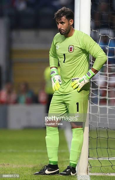 Gibraltar«s goalkeeper Jordan Perez in action during the International Friendly match between Portugal and Gibraltar at Estadio do Bessa on September...