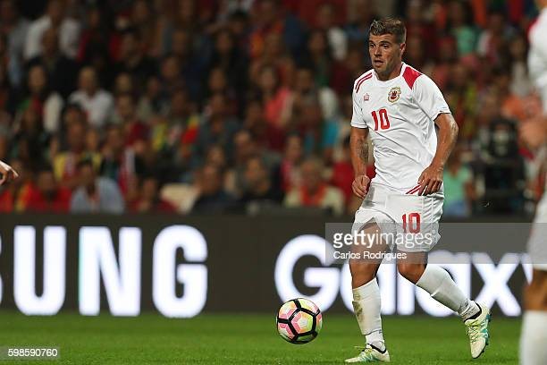 Gibraltar«s midfielder Liam Walker during the match between Portugal vs Gilbratar friendly match at Estadio do Bessa on September 01 2016 in Porto...