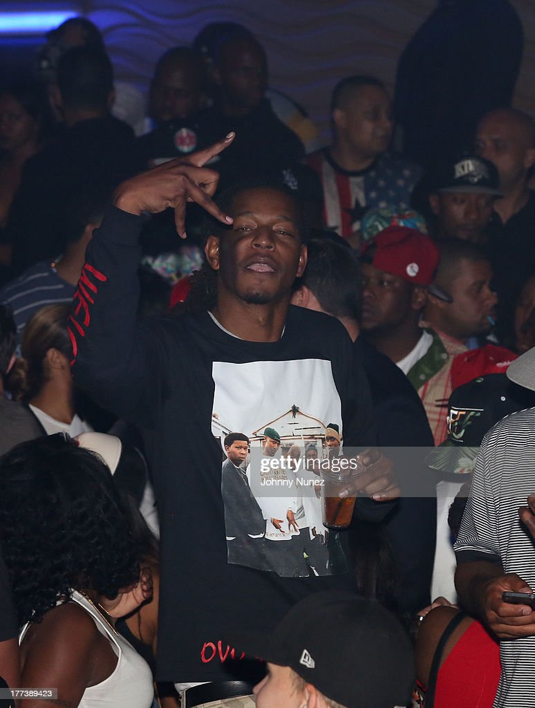 CJ Gibson attends the 2013 Pre-VMA Party hosted by Yaris and Ace Hood at Stage 48 on August 22, 2013 in New York City.