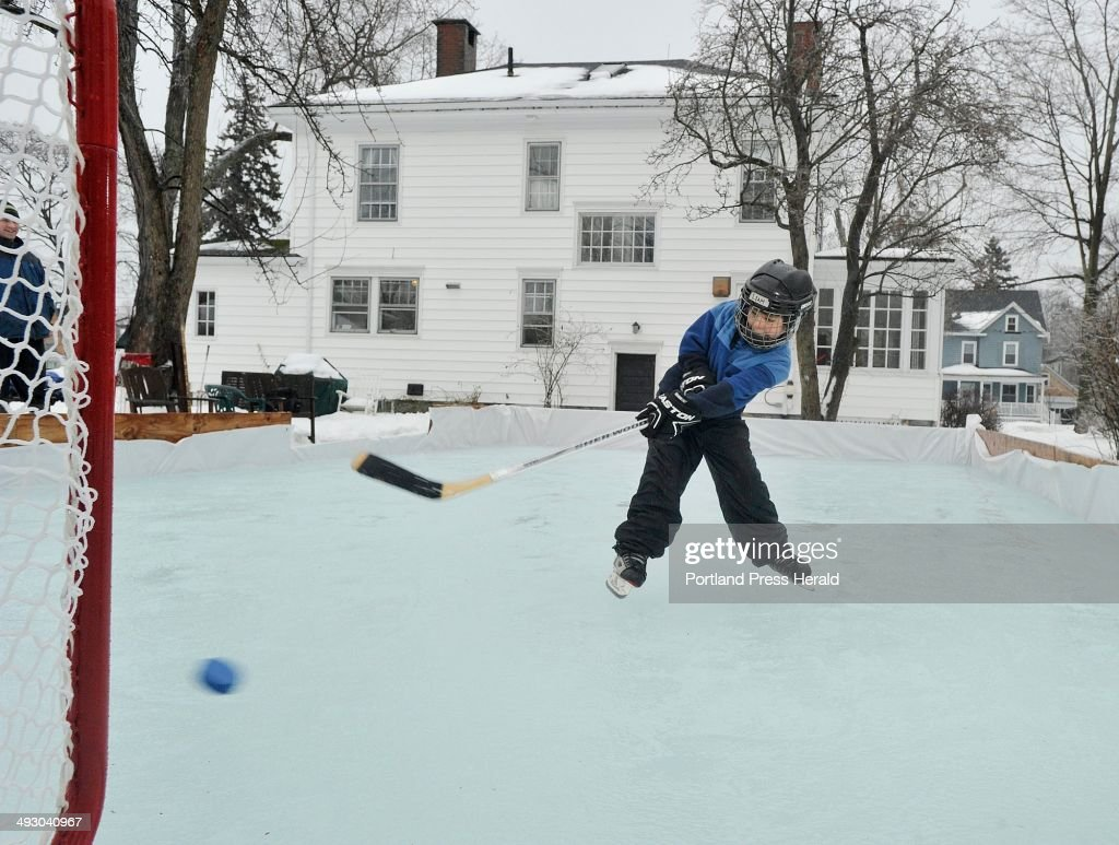Gibson Fay Leblanc Built An Ice Skating Rink In The Backyard Of His  Portland Home