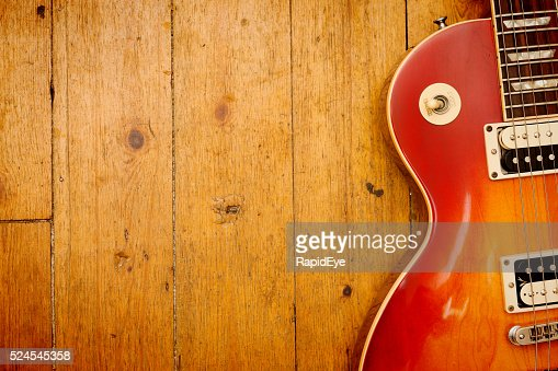 Gibson Les Paul Standard electric guitar on wood