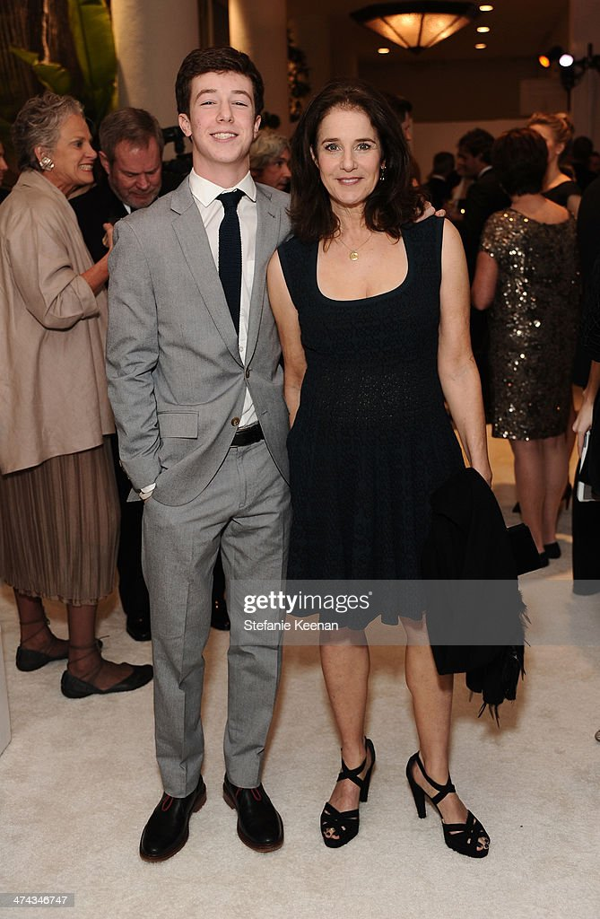 Gideon Howard (L) and actress Debra Winger attend the 16th Costume Designers Guild Awards with presenting sponsor Lacoste at The Beverly Hilton Hotel on February 22, 2014 in Beverly Hills, California.
