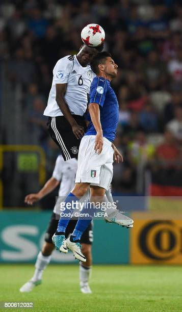Gideon Jung of Germany and Lorenzo Pellegrini of Italy during their UEFA European Under21 Championship 2017 match on June 24 2017 in Krakow Poland