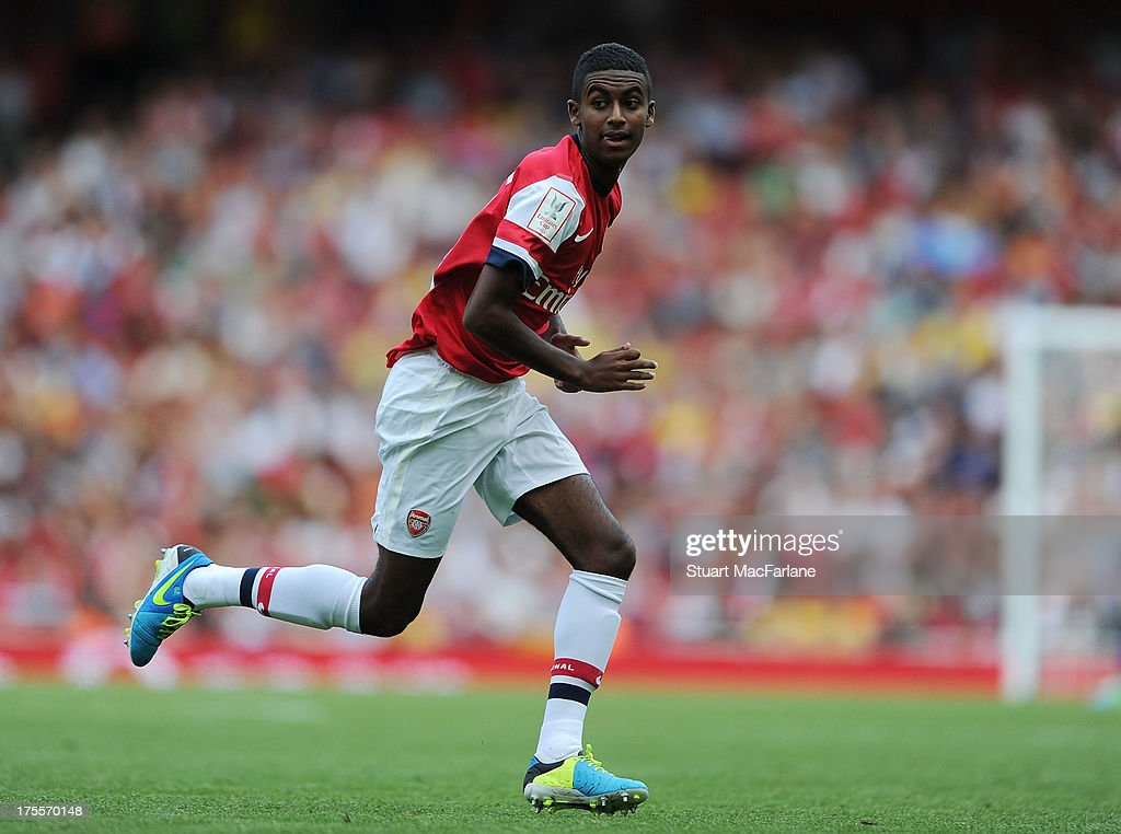 Gideon Zelalem of Arsenal during the Emirates Cup match between Arsenal and Galatasaray at the Emirates Stadium on August 04, 2013 in London, England.