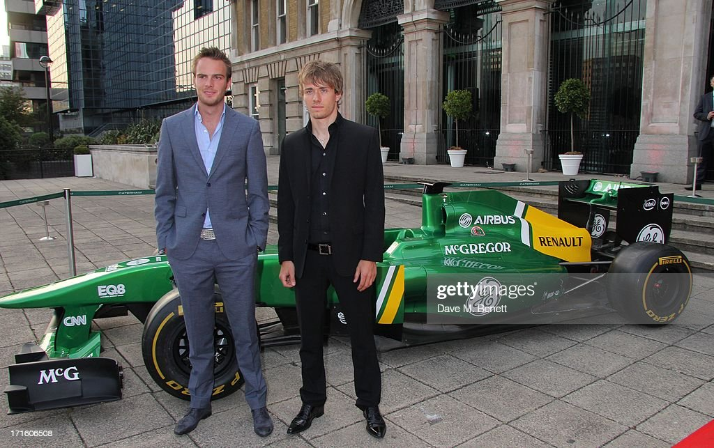 <a gi-track='captionPersonalityLinkClicked' href=/galleries/search?phrase=Giedo+Van+Der+Garde&family=editorial&specificpeople=4137991 ng-click='$event.stopPropagation()'>Giedo Van Der Garde</a> and <a gi-track='captionPersonalityLinkClicked' href=/galleries/search?phrase=Charles+Pic&family=editorial&specificpeople=8708875 ng-click='$event.stopPropagation()'>Charles Pic</a> attend the F1 Party in aid of great ormond street hospital childrens charity at Old Billingsgate Market on June 26, 2013 in London, England.
