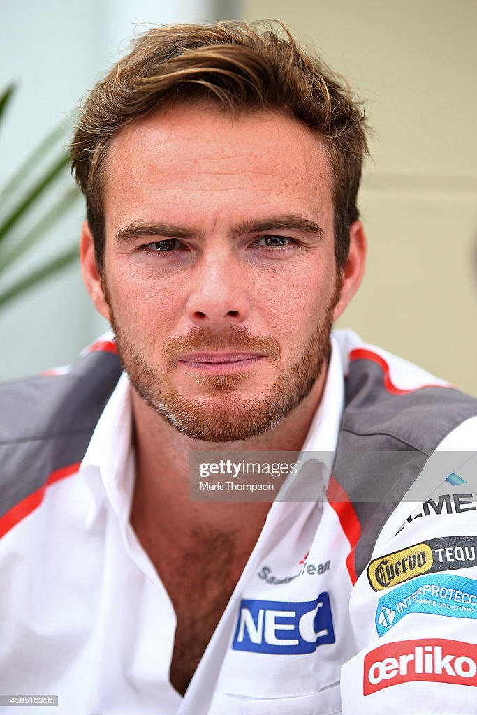 Giedo van der Garde of Netheralnds and Sauber F1 looks on in the paddock during previews ahead of the Brazilian Formula One Grand Prix at Autodromo...