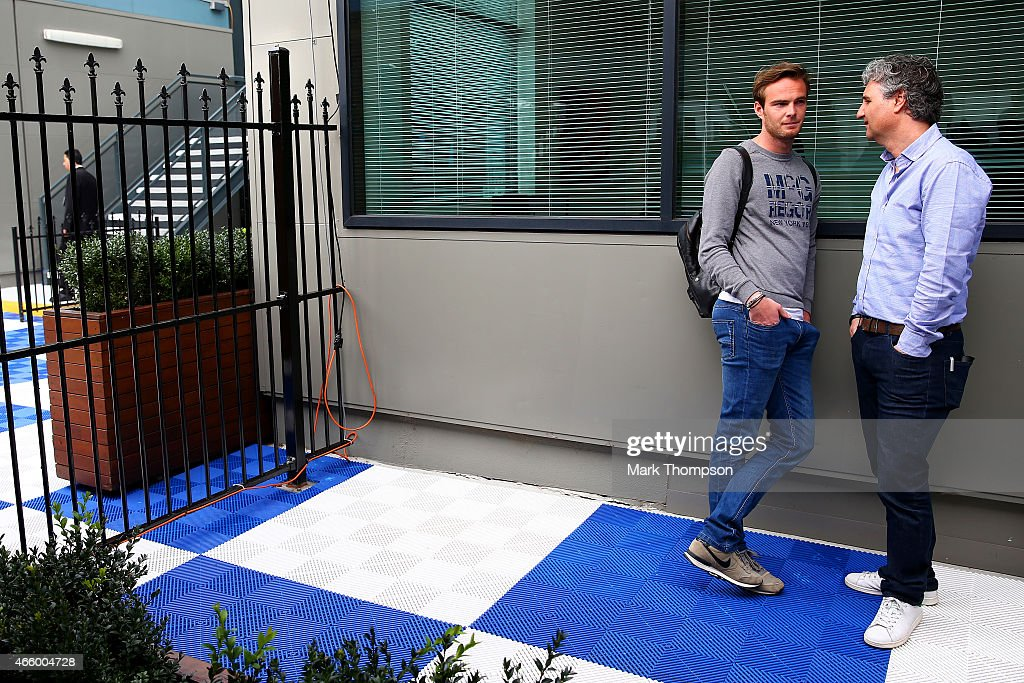 Giedo van der Garde of Netherlands and Sauber F1 waits outside the paddock before practice for the Australian Formula One Grand Prix at Albert Park...