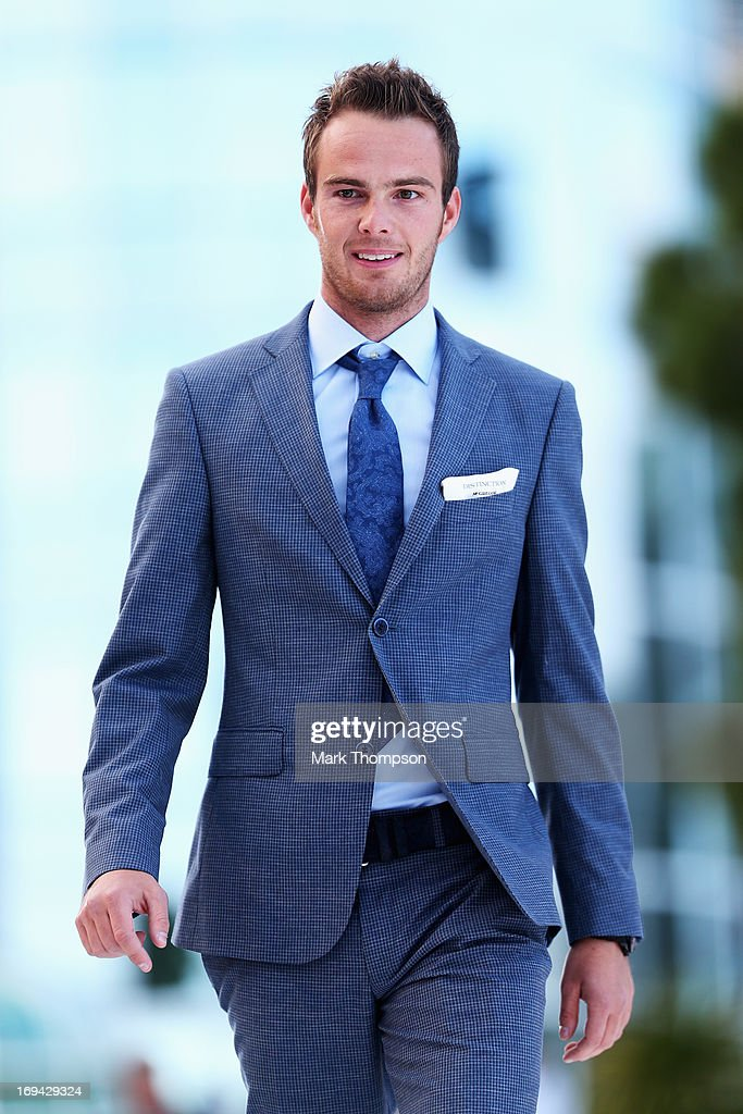 Giedo van der Garde of the Netherlands and Caterham attends the Amber Lounge Charity Fashion event at Le Meridien Beach Plaza Hotel on May 24, 2013 in Monaco, Monaco.