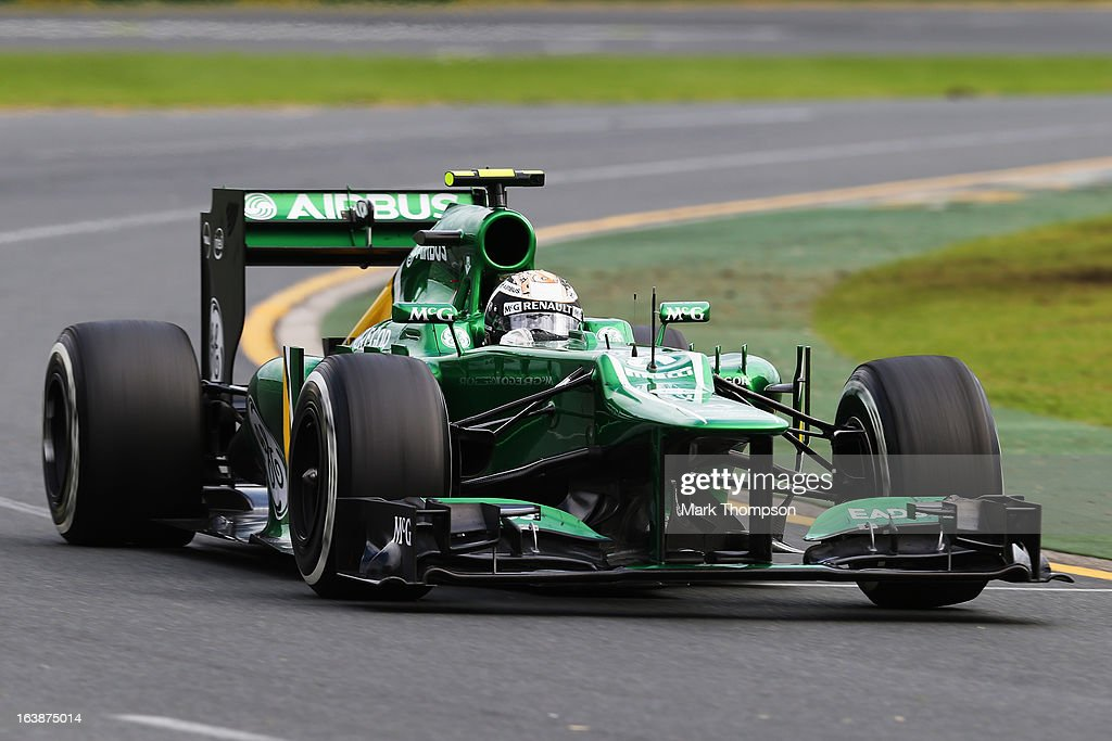Giedo van der Garde of the Netherlands and Caterham drives during the Australian Formula One Grand Prix at the Albert Park Circuit on March 17, 2013 in Melbourne, Australia.
