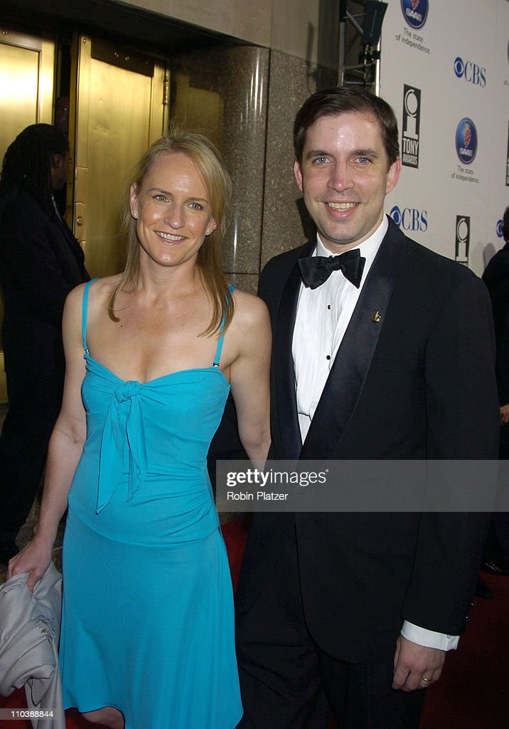 Gifford Miller (right) and wife during 59th Annual Tony Awards - Outside Arrivals at Radio City Music Hall in New York City, New York, United States.