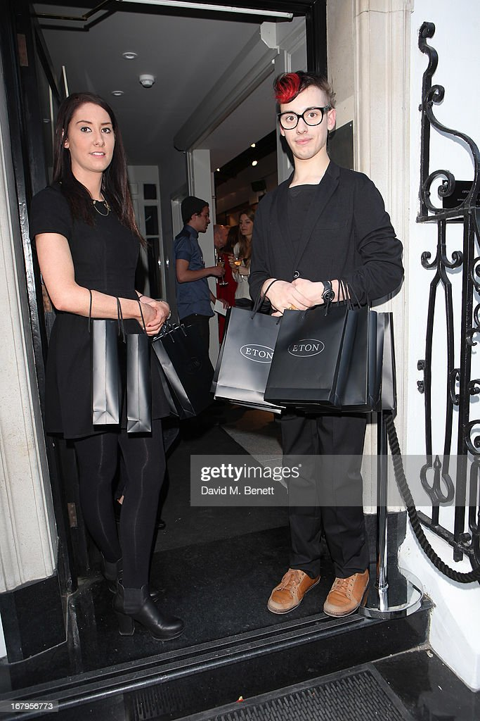 Gift bags are readied for guests at the opening of ETON shirts London flagship store on South Moulton Street on May 2, 2013 in London, England.