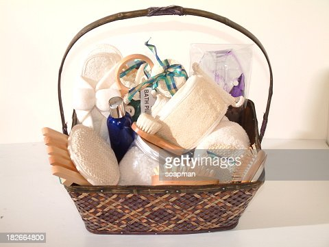 A gift basket of spa essentials