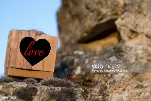 A gift box and Heart with I love you. Valentine´s Day