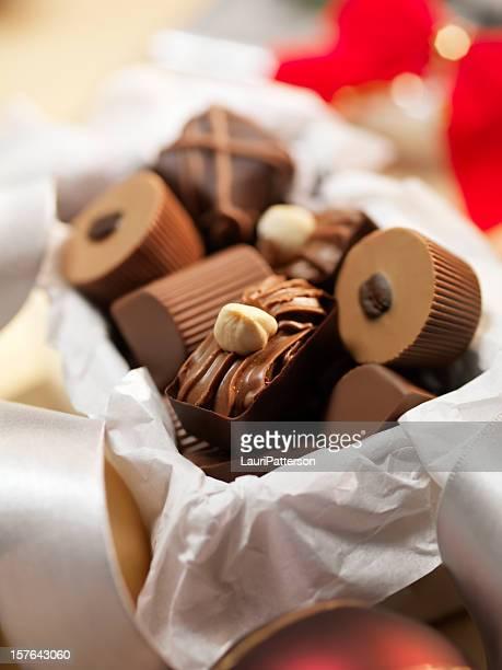 Scatola regalo di tartufi al cioccolato