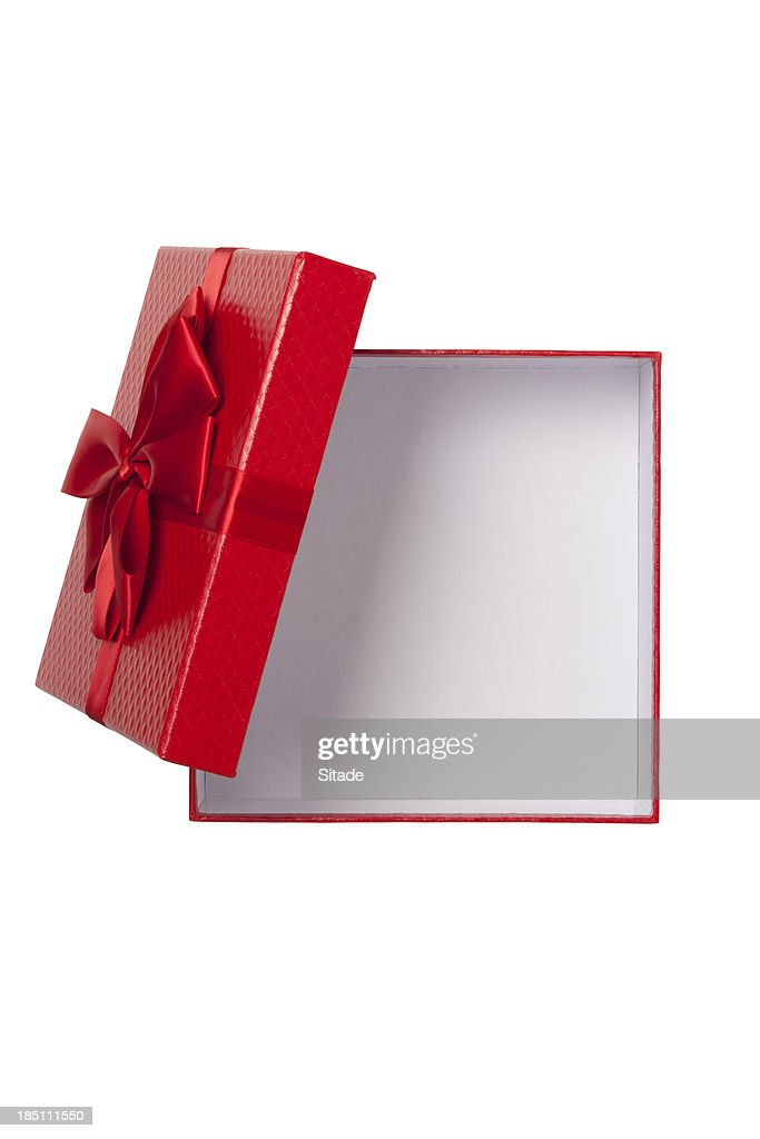 Gift Box With Clipping Path