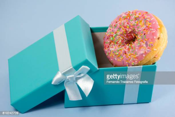 Gift box with donut pastry