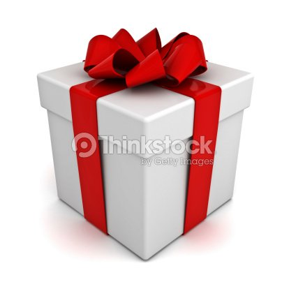 caja de regalo con lazo rojo plano foto de stock thinkstock. Black Bedroom Furniture Sets. Home Design Ideas