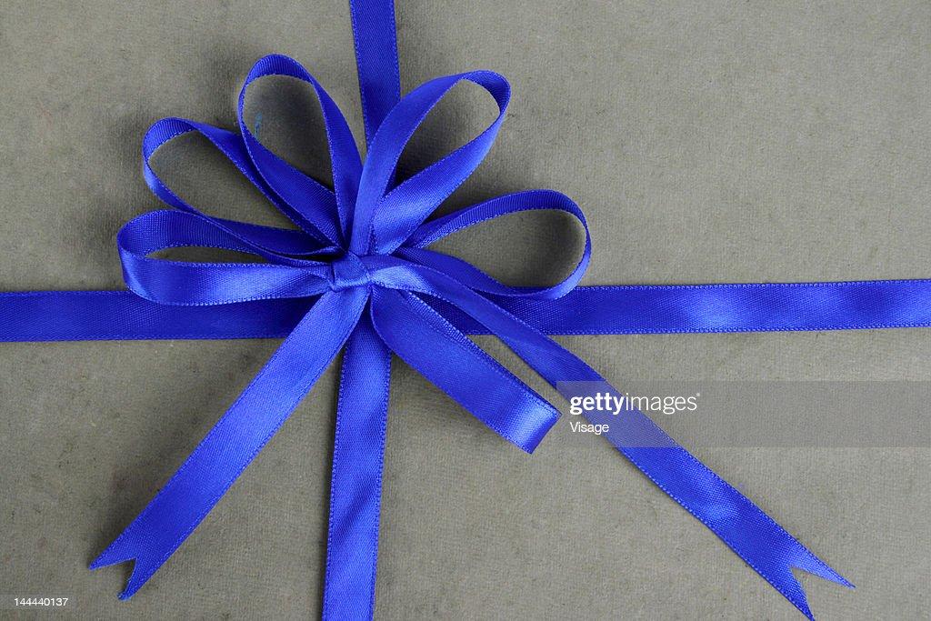 Gift box with Ribbon, top angle : Stock Photo