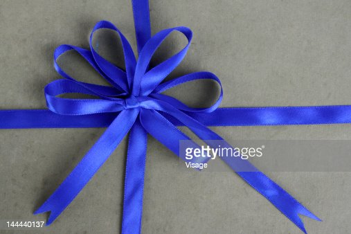 Gift box with Ribbon, top angle : Stock Photo