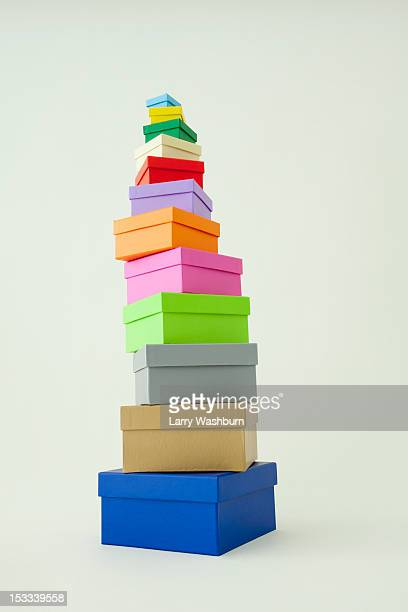 Gift boxes stacked from largest to smallest