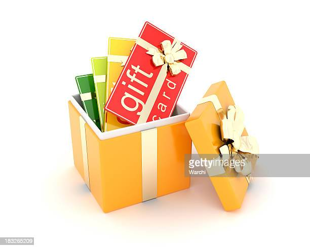 gift cards in a  box
