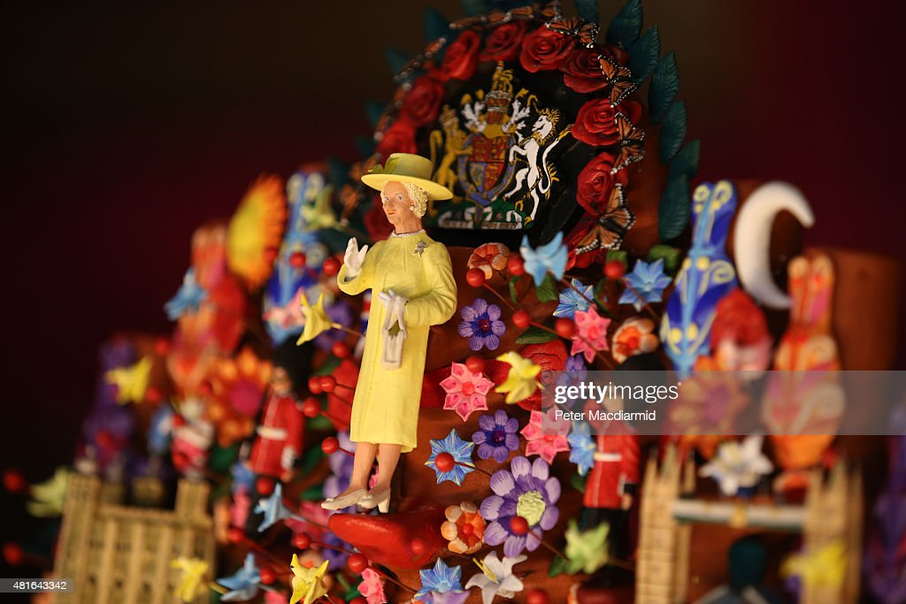 A gift for Queen Elizabeth II from President Enrique Peña Nieto of Mexico entitled 'Tree of Life' is displayed at The Royal Welcome exhibition Summer opening at Buckingham Palace on July 23, 2015 in London, England. Last year the Royal Family welcomed around 62,000 guests to Buckingham Palace, at State Visits, receptions, Garden Parties, Investitures and private audiences. At the Summer Opening of the Palace, displays throughout the State Rooms have recreated the settings for some of these royal occasions, and give an insight into what goes into creating a royal welcome, from the laying of a table at a State Banquet, to the creation of an outfit worn by Her MajestyThe Queen to receive visitors.