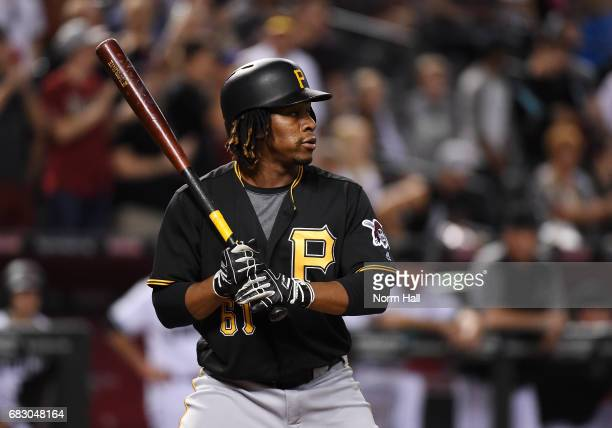 Gift Ngoepe of the Pittsburgh Pirates gets ready in the batters box against the Arizona Diamondbacks at Chase Field on May 12 2017 in Phoenix Arizona