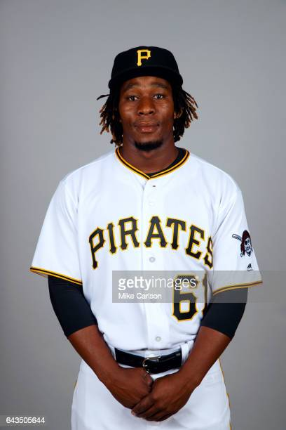 Gift Ngoepe of the Pittsburgh Pirates poses during Photo Day on Sunday February 19 2017 at LECOM Park in Bradenton Florida