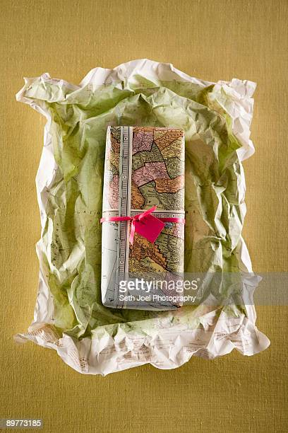 Gift or present being unwrapped